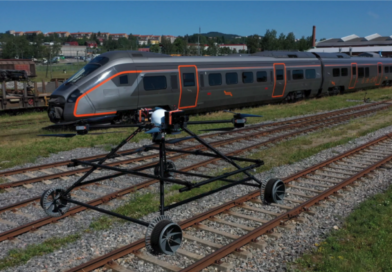 A drone that guards the railway tracks